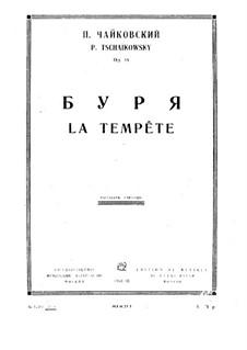 Буря, TH 44 Op.18: Партитура by Петр Чайковский