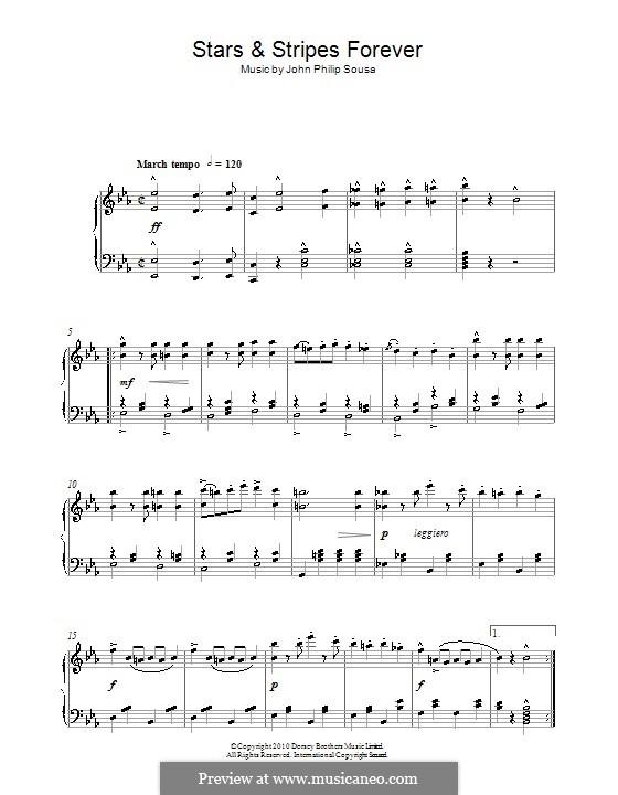Звёзды и полосы навсегда: Для фортепиано by Джон Филип Суза