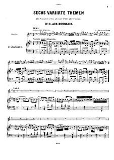 Шесть тем с вариациями, Op.105: Для флейты (или скрипки) и фортепиано by Людвиг ван Бетховен