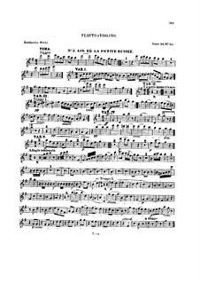 Десять тем с вариациями для флейты (или скрипки) и фортепиано, Op.107: Тетрадь II – сольная партия by Людвиг ван Бетховен