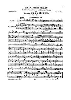 Десять тем с вариациями для флейты (или скрипки) и фортепиано, Op.107: Книга III by Людвиг ван Бетховен
