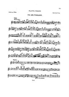 Десять тем с вариациями для флейты (или скрипки) и фортепиано, Op.107: Тетрадь III – сольная партия by Людвиг ван Бетховен