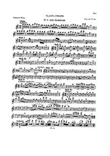 Десять тем с вариациями для флейты (или скрипки) и фортепиано, Op.107: Тетрадь IV – сольная партия by Людвиг ван Бетховен