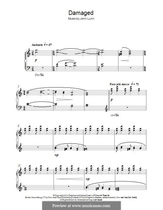 Damaged: Для фортепиано by John Lunn