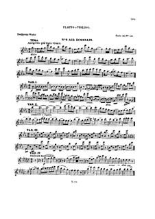 Десять тем с вариациями для флейты (или скрипки) и фортепиано, Op.107: Тетрадь V – сольная партия by Людвиг ван Бетховен