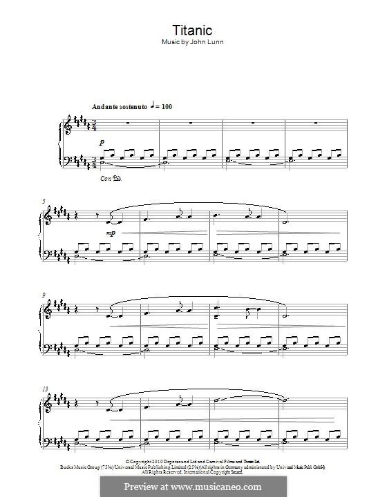 Ноты скачать my heart will go on для фортепиано.
