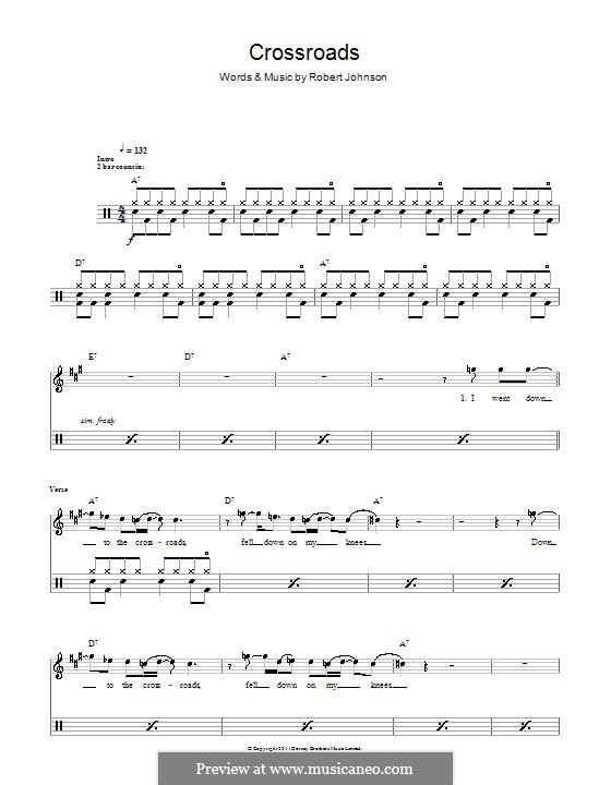 Cross Road Blues (Crossroads): Для ударных by Robert Leroy Johnson