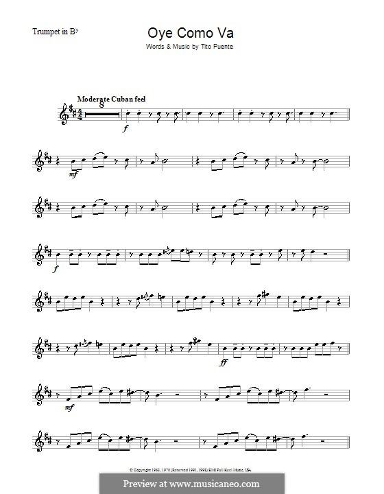 Oye Como Va (Santana): Для трубы by Tito Puente