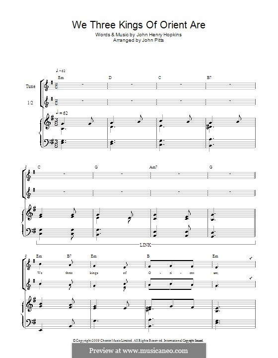 We Three Kings of Orient are: For three recorders by John H. Hopkins Jr.