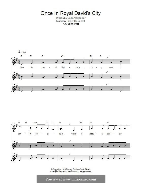 Once in Royal David's City: Для блокфлейты by Henry John Gauntlett