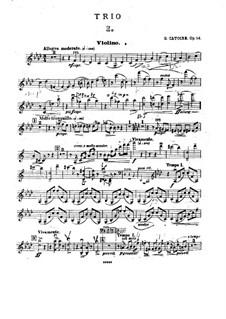 Фортепианное трио фа минор, Op.14: Партия скрипки by Георгий Катуар