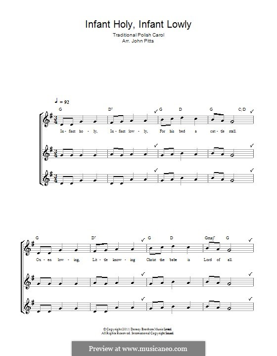 Infant Holy, Infant Lowly: Для блокфлейты by folklore