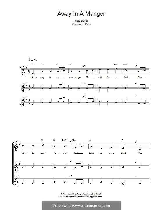 Away in a Manger: Для блокфлейты by Уильям (Джеймс) Киркпатрик