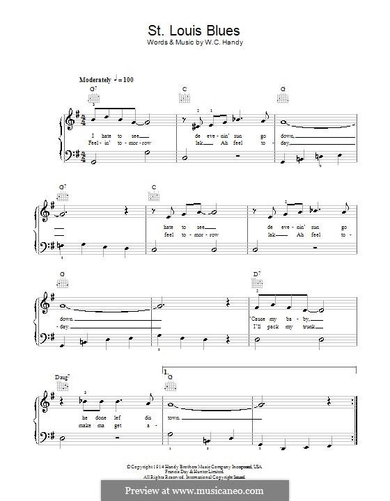 St. Louis Blues: Для фортепиано (легкий уровень) by Уильям Кристофер Хэнди