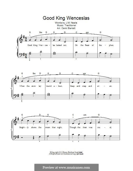 Good King Wenceslas: Клавир с вокальной партией by folklore