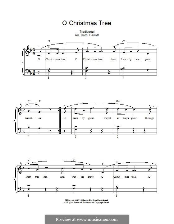 O Christmas Tree, (Printable Scores): Для голоса и фортепиано by folklore