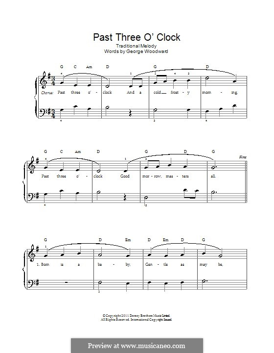 Past Three O'Clock: Для голоса и фортепиано by George Ratcliffe Woodward