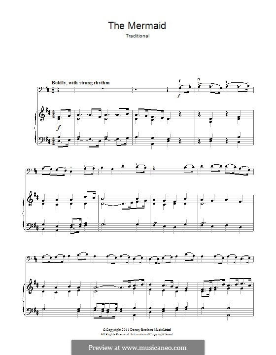 The Mermaid: Для виолончели и фортепиано by folklore