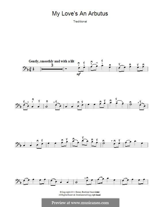 My Love's an Arbutus: Для виолончели by folklore