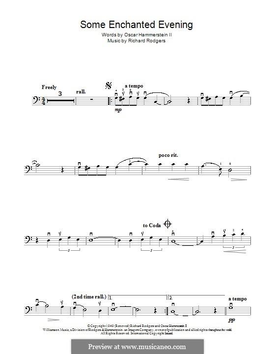 Some Enchanted Evening (from South Pacific): Для виолончели и фортепиано – сольная партия by Richard Rodgers