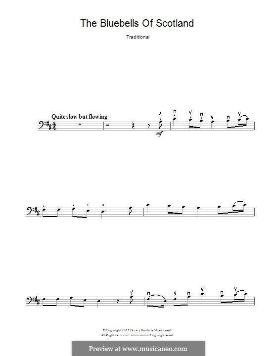 The Blue Bells of Scotland: Для виолончели by folklore