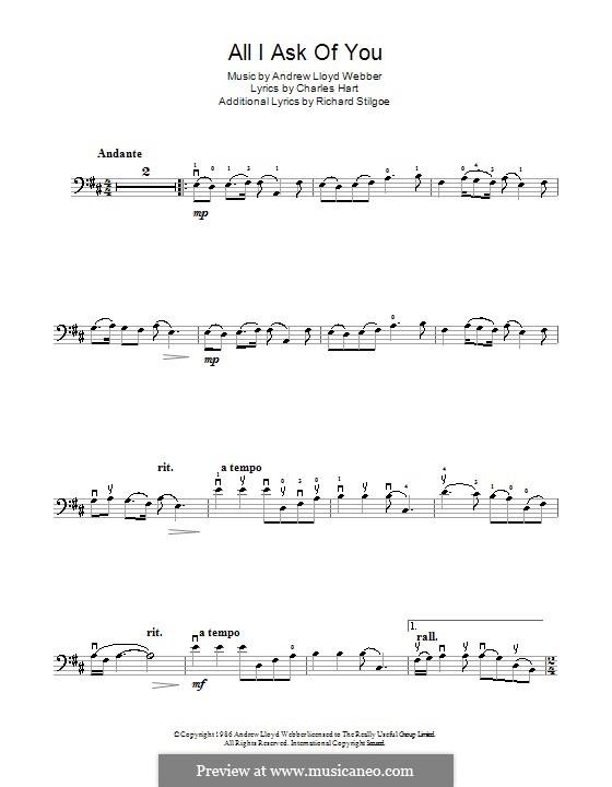All I Ask of You: Для виолончели by Andrew Lloyd Webber