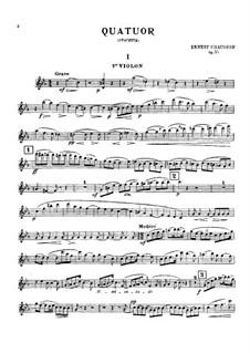 Струнный квартет до-минор, Op.35: Партии by Эрнест Шоссон