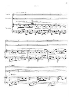 Фортепианное трио соль минор, Op.3: Части III-IV by Эрнест Шоссон