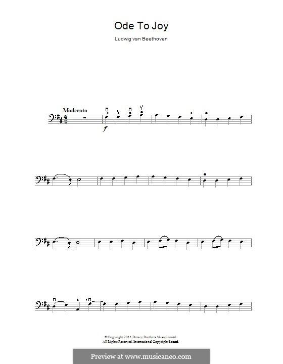 Ода к радости: Версия для виолончели by Людвиг ван Бетховен