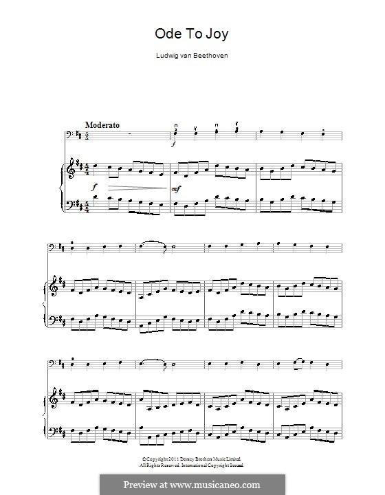 Ода к радости: Версия для виолончели и фортепиано by Людвиг ван Бетховен