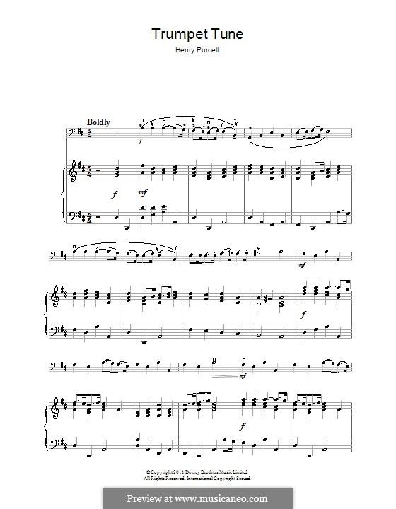 Trumpet tune and Air: Для виолончели by Генри Пёрсел