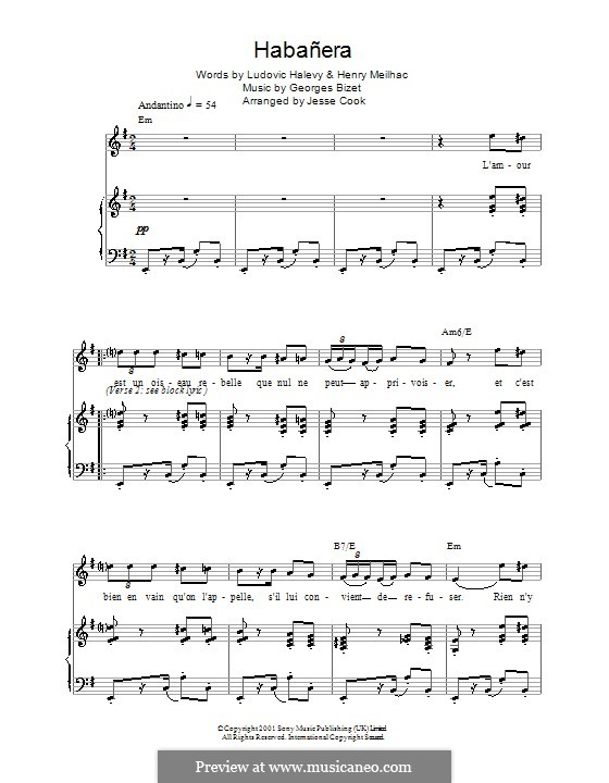 Хабанера: Для голоса и фортепиано by Жорж Бизе