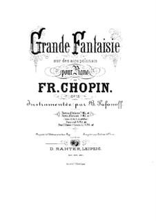 Большая фантазия ля мажор, Op.13: Для двух фортепиано в 4 руки by Фредерик Шопен