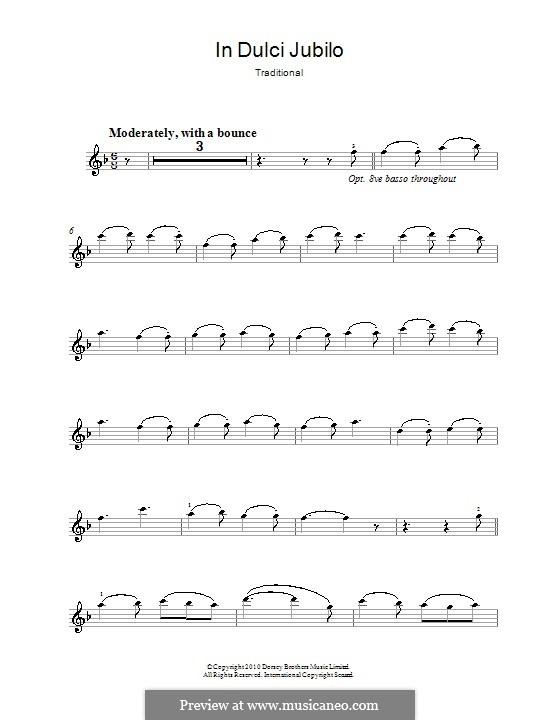 In dulci jubilo: For violin by folklore