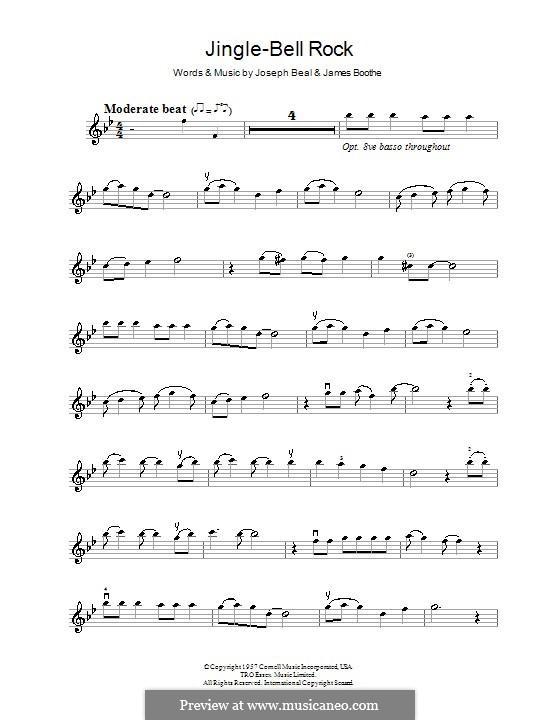 Jingle Bell Rock: Для скрипки (Bobby Helms) by Jim Boothe, Joe Beal