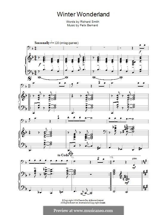 Winter Wonderland: Для виолончели by Felix Bernard