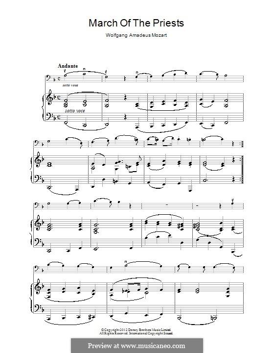 Марш жрецов: Для фортепиано by Вольфганг Амадей Моцарт