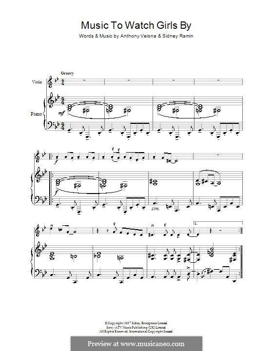 Music to Watch Girls By: Для скрипки by Anthony Velona, Sidney Ramin