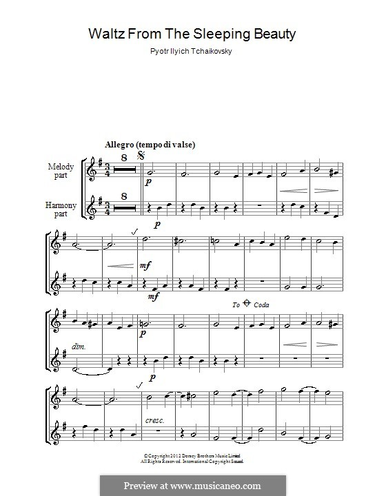 Вальс: Для двух блокфлейт by Петр Чайковский