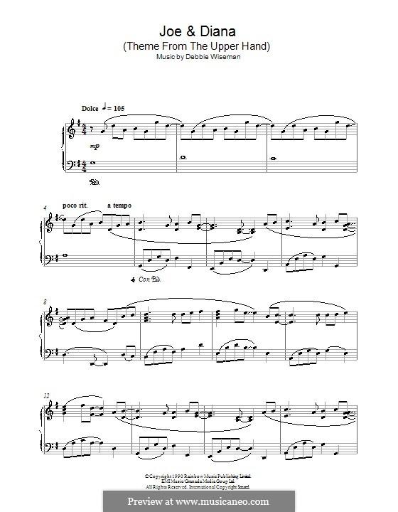 Joe & Diana (Theme from The Upper Hand): Для фортепиано by Debbie Wiseman