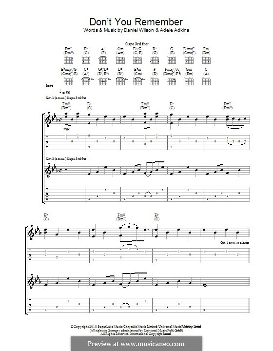 Don't You Remember: Для гитары by Adele, Daniel Wilson