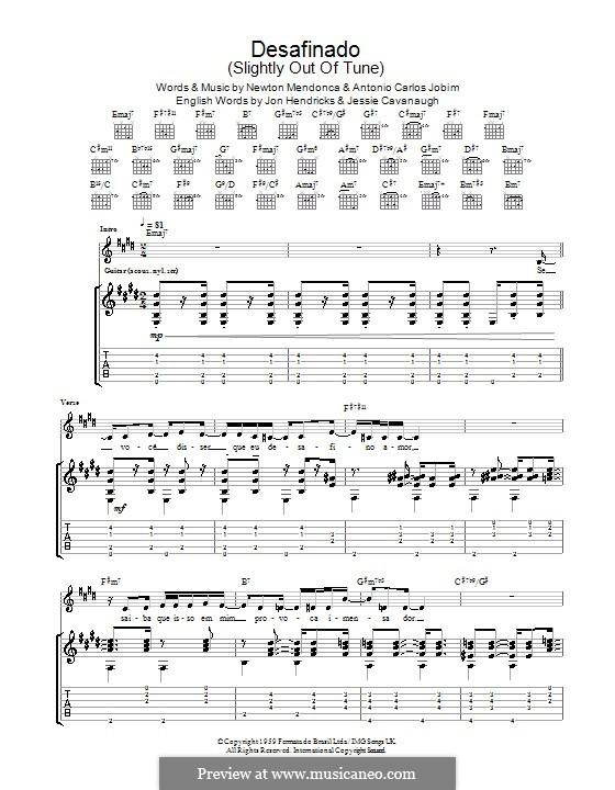 Desafinado (Slightly Out of Tune): Для гитары by Antonio Carlos Jobim