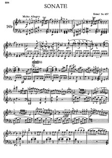 Соната для фортепиано No.14 до минор, K.457: Для одного исполнителя by Вольфганг Амадей Моцарт