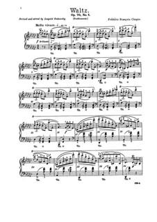 Вальсы, Op. posth.70: No.1 соль-бемоль мажор by Фредерик Шопен