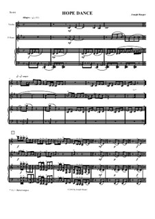 Hope Dance (violin, horn, piano): Hope Dance (violin, horn, piano) by Joseph Hasper