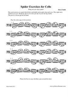Spider Technique Exercise for Cello: Spider Technique Exercise for Cello by Yellow Cello Music
