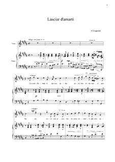 Lasciar d'amarti per non penar: G Sharp Minor by Франческо Гаспарини