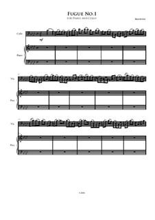 Fugue No.1 for Cello and Piano: Fugue No.1 for Cello and Piano by Irminsul Harp