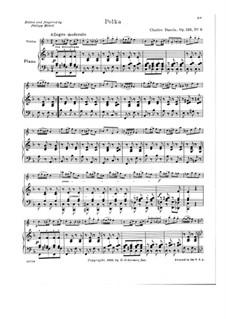 Petite école de la mélodie. Polka, Op.123 No.6: Партитура by Шарль Данкла
