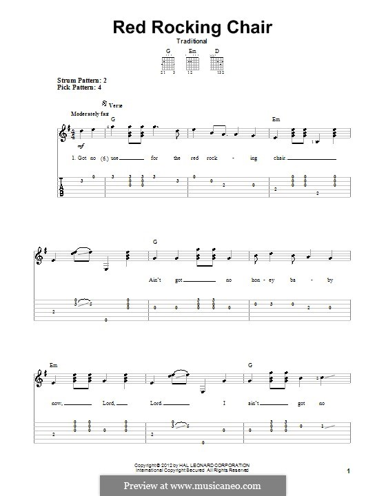 Red Rocking Chair: Для гитары by folklore